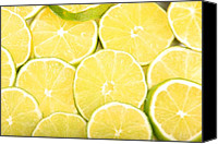 Limes Canvas Prints - Colorful Limes Canvas Print by James Bo Insogna