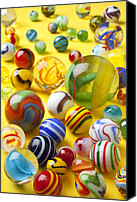 Spheres Canvas Prints - Colorful marbles Canvas Print by Garry Gay