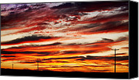 James Insogna Canvas Prints - Colorful Rural Country Sunrise Canvas Print by James Bo Insogna