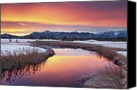Mountain Scene Canvas Prints - Colorful Sunrise Canvas Print by by Michael Breitung Photography -> www.mibreit-photo.com
