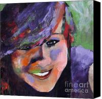 Teen Painting Canvas Prints - Colorful Teen 2 Canvas Print by Johane Amirault