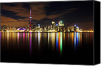 Long Canvas Prints - Colorful Toronto Canvas Print by Matt  Trimble