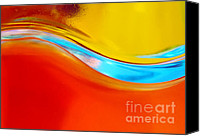 Olive Oil Canvas Prints - Colorful Wave Canvas Print by Carlos Caetano