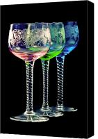 Wine Glass Photo Canvas Prints - Colorful wine glasses Canvas Print by Gert Lavsen
