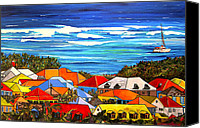 Houses Canvas Prints - Colors of St Martin Canvas Print by Patti Schermerhorn