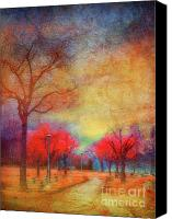 Benches Canvas Prints - Colour Burst Canvas Print by Tara Turner
