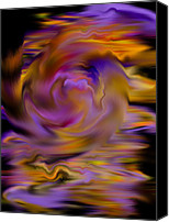 Corel Painter Canvas Prints - Colourful Swirl Canvas Print by Hakon Soreide