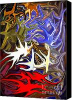 Colourful Canvas Prints - Colours Melting 3 Canvas Print by Chris Butler