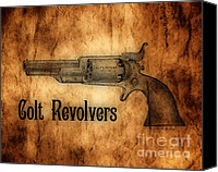 The American Buffalo Canvas Prints - Colt Revolvers Canvas Print by Cheryl Young