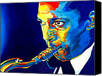 Bandleader Canvas Prints - Coltrane-Blu Canvas Print by Vel Verrept