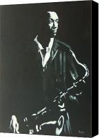 Saxaphone Painting Canvas Prints - Coltrane Canvas Print by Pete Maier