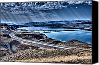 Ice Age Canvas Prints - Columbia River at Vantage Canvas Print by Spencer McDonald