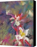 Interpretation Pastels Canvas Prints - Columbine Flair Canvas Print by Carole Haslock