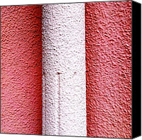 Pink Canvas Prints - Column detail Canvas Print by Julie Gebhardt