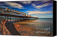 Rusty Digital Art Canvas Prints - Colwyn Pier Canvas Print by Adrian Evans