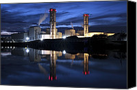 Water Cycle Canvas Prints - Combined Cycle Gas Turbine Power Station Canvas Print by Martin Bond