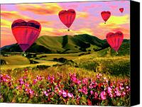 Hearts Canvas Prints - Come Fly With Me Canvas Print by Kurt Van Wagner