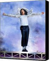 Mike Painting Canvas Prints - Come Together Over Me - MJ Canvas Print by Reggie Duffie