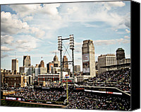 Detroit Tigers Canvas Prints - Comerica Park Detroit Canvas Print by Alanna Pfeffer