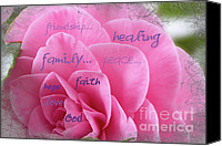 Camelia Canvas Prints - Comfort Words Canvas Print by Jean OKeeffe