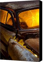 Antique Automobiles Canvas Prints - Coming Apart at the Seams Canvas Print by Wayne Stadler