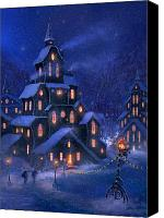 Christmas Canvas Prints - Coming Home Canvas Print by Philip Straub