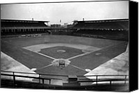 White Sox Canvas Prints - Comiskey Park, Baseball Field That Canvas Print by Everett