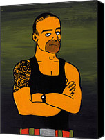 Simpsons Canvas Prints - Commando Steve Willis Canvas Print by Donna Huntriss