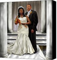 Couples Canvas Prints - Commissioned Wedding Portrait  Canvas Print by Reggie Duffie