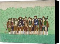 Minutemen Canvas Prints - Committeemen on the Green Canvas Print by Robert Boyette