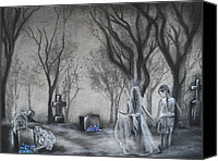 Ghosts Drawings Canvas Prints - Communion Canvas Print by Carla Carson