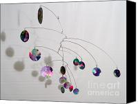 Kinetic Sculpture Sculpture Canvas Prints - Complexity Style Kinetic Mobile Sculpture Canvas Print by Carolyn Weir