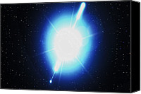 Grb Canvas Prints - Computer Artwork Of A Gamma Ray Burst Canvas Print by Greg Baconnasa