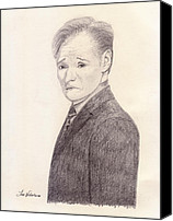 Graphite Canvas Prints - Conan OBrien Canvas Print by Jose Valeriano
