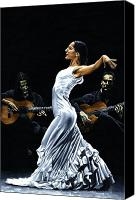 Dance Canvas Prints - Concentracion del Funcionamiento del Flamenco Canvas Print by Richard Young