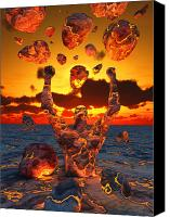 Anger Digital Art Canvas Prints - Conceptual Image Based On The Biblical Canvas Print by Mark Stevenson