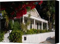 Florida Flowers Canvas Prints - Conch House in Key West Canvas Print by Susanne Van Hulst