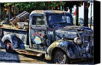 Old Trucks Photo Canvas Prints - Conch Truck Canvas Print by Joetta West
