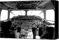 Airways Canvas Prints - Concorde cockpit Canvas Print by Patrick  Flynn