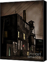 Factories Canvas Prints - Condemned Canvas Print by Colleen Kammerer