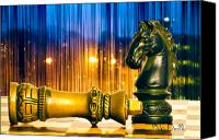 Chess Piece Canvas Prints - Condescending Knight Canvas Print by Bob Orsillo