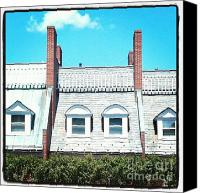 Townhomes Canvas Prints - Condos in Portsmouth New Hampshire Canvas Print by Christy Bruna