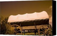 Pioneers Canvas Prints - Conestoga Wagon Canvas Print by Darren Greenwood