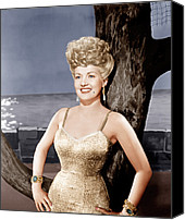 Gold Lame Canvas Prints - Coney Island, Betty Grable, 1943 Canvas Print by Everett