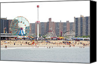 Ride Canvas Prints - Coney Island, New York Canvas Print by Ryan McVay