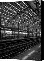 Subway Station Photo Canvas Prints - Coney Island Subway Station Canvas Print by Robert Ullmann