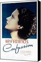 Francis Canvas Prints - Confession, Kay Francis, 1937 Canvas Print by Everett