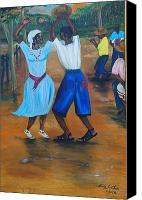 Nicole Jean-louis Canvas Prints - Congo Dance Canvas Print by Nicole Jean-Louis