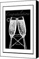 Black Tie Canvas Prints - Congratulations Wedding Card Canvas Print by Debra     Vatalaro