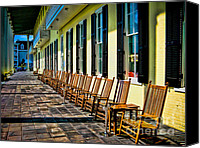 Rocking Chairs Photo Canvas Prints - Congress Hall Rockers Canvas Print by Colleen Kammerer